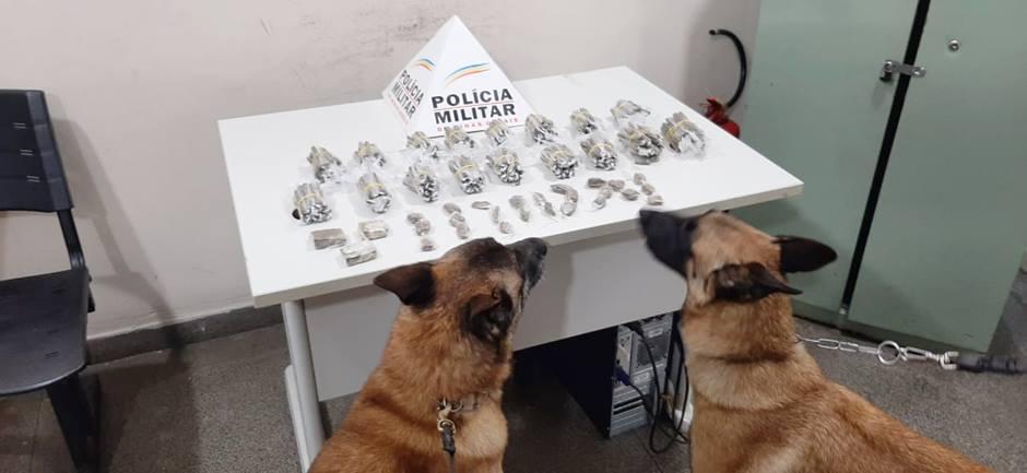 PM apreende quase 500 buchas de maconha com menor em Pouso Alegre